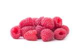 Raspberry isolated. Raspberry on white. Raspberries.