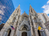 St. Patrick's Cathedral one of  main one of the main Manhattan Landmarks in New York City USA - 249944364