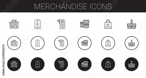 merchandise icons set