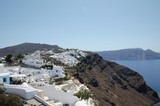 White village life above the Greek sea