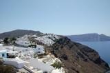 White village life above the Greek sea