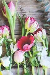 Frühlingsblumen - Blumenstrauß bunt mit Tulpen - Muttertag , Ostern...
