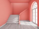 Architectural design of corridor with staircase - 250021540