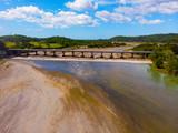 Bridge Over River Durig Dry Season, Philippines, Aerial View