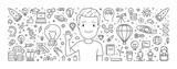 Baner internetowy linii wektor dla kreatywnych