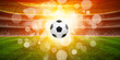 Quadro Soccer ball on a  bright background