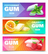 Realistic Chewing Gum Banners
