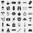 Small vacation icons set. Simple style of 36 small vacation vector icons for web for any design