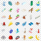 Sea vacation icons set. Isometric style of 36 sea vacation vector icons for web for any design