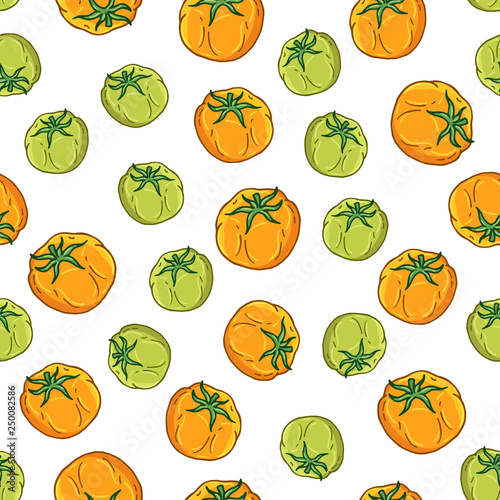 Pattern of vector illustrations on the vegetarianism theme: various types of vegetables. Isolated editable objects for your design. © Alevtina