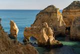 Sea Caves on the Algarve coast, Ponta da Piedade near Lagos, Algarve, Portugal