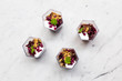 Beetroot, goats cheese and walnut appetizers - 250083596