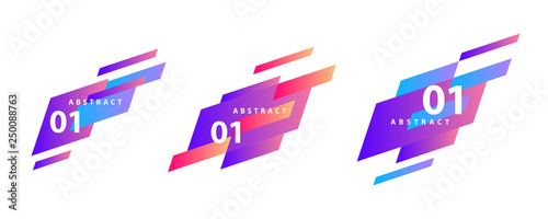 Set of geometric abstract shapes. Vector banners for presentation, flyer, tag design. - 250088763