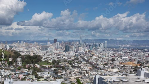 Stunning Clear San Francisco Aerial Drone from Twin Peaks to Downtown