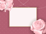 Abstract Empty Frame roth Rose. Vector Illustration Background