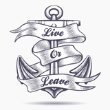 Live or Leave Old School Tattoo