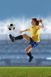 Quadro Young Woman Playing Soccer