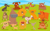dogs or puppies funny characters group