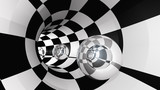 Fototapeta Do przedpokoju - Tunnel Crystal Sphere © Dan Collier