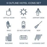 hotel icons - 250163181