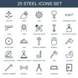 25 steel icons