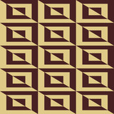Seamless background for your designs. Modern vector brown and golden ornament. Geometric abstract pattern - 250170523