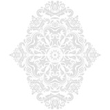 Elegant vintage vector ornament in classic style. Abstract traditional light vertical pattern with oriental elements. Classic vintage pattern - 250171738