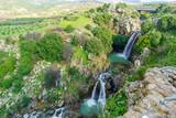 Saar waterfall, in the Golan Heights