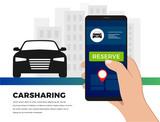 Carsharing service illustration concept