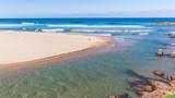 Scenic Beach Blue Ocean River Mouth