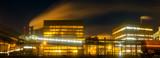 big chemical factory at night