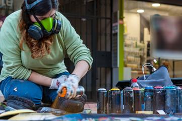 street artist paint