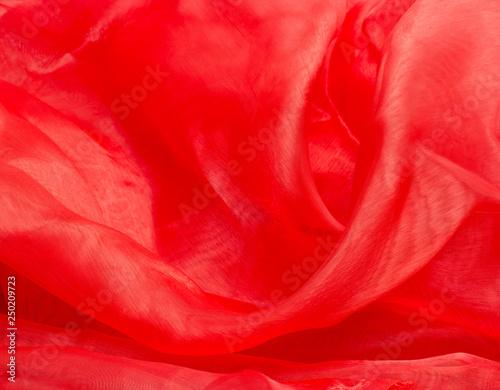 obraz lub plakat shiny red satin fabric
