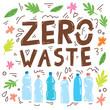 Zero waste lettering poster concept