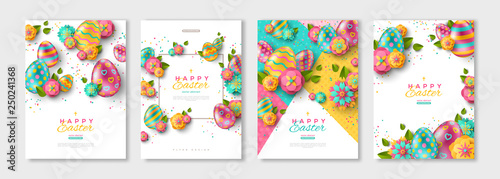 Easter posters or flyers set © kotoffei