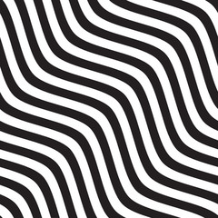 Vector seamless texture.Modern geometric background with wavy lines.