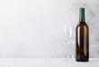 Quadro White wine bottle and glasses