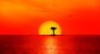 Quadro Palmtree ins Sunset