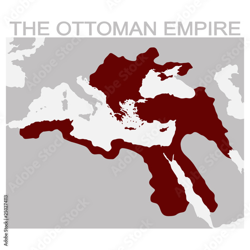 vector map of the ottoman empire for your design © drutska