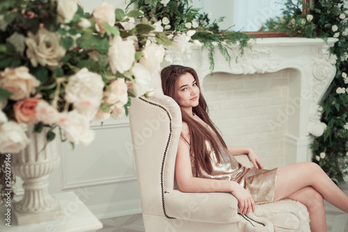 girl in the chair