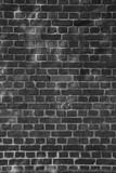 Backsteinwand in schwarz-weiß