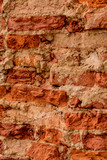 Brick texture. Old brick wall of the renovated house.