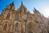 Cathedral of Barcelona located in the heart of historic Las Ramblas district