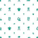 land icons pattern seamless white background - 250356997