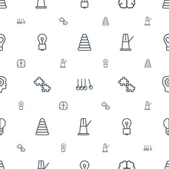 creativity icons pattern seamless white background © HN Works