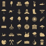 Tree icons set. Simple style of 36 tree vector icons for web for any design