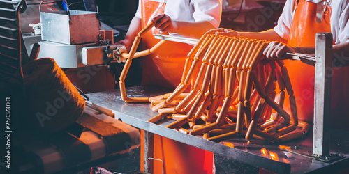 sausage meat production - 250360101