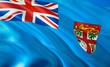 Quadro Flag of Fiji. 3D Waving flag design. The national symbol of Fiji, 3D rendering. National colors of Fiji 3D Waving sign background design. 3D ribbon, wallpaper, pattern background