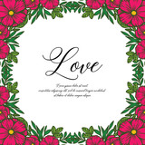 Vector illutration background white with flower for greeting card hand draw