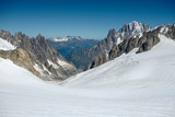 panoramic view of the Mont Blanc glacier